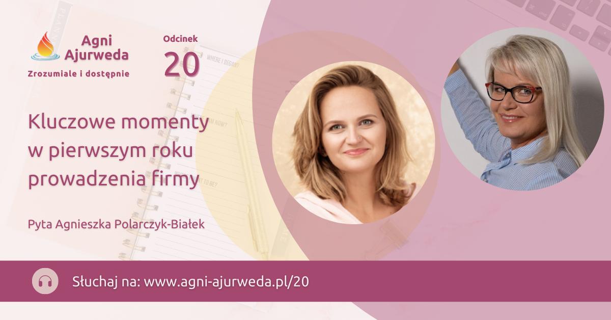 Banner z tytułem odcinka oraz zdjęciami Marii Nowak-Szabat i Agnieszki Polarczyk-Białek